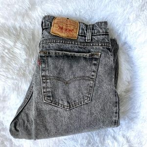 Levi's acid wash black jeans
